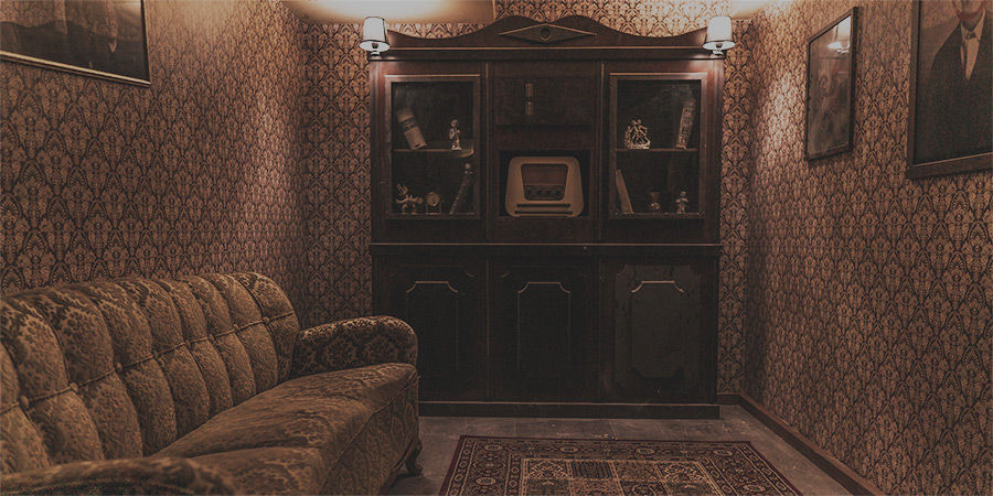 Haunted mansion living room