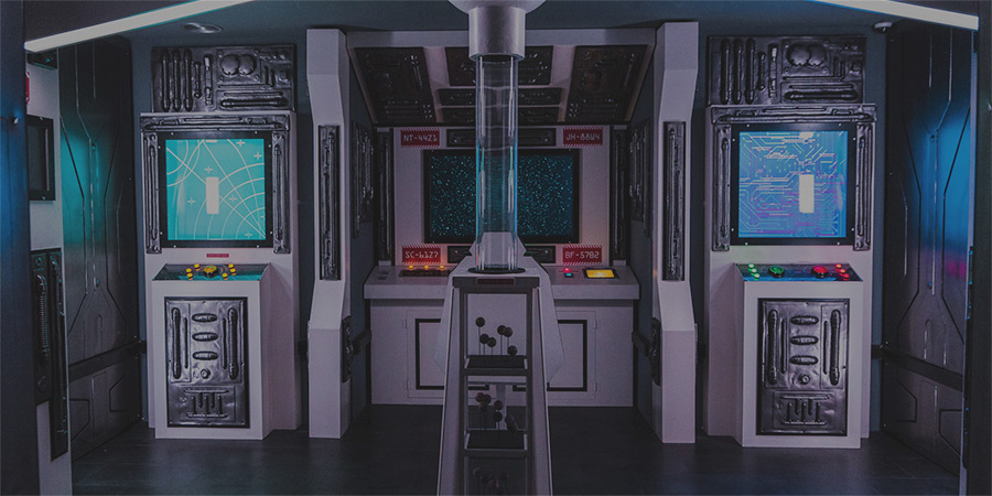 Spaceship control room